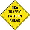Image of a New Traffic Pattern Ahead Sign (W23-2)