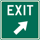 Image of a Exit Gore Sign (W25-4)