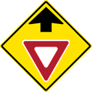 Image of a Yield Ahead Sign (W3-2)