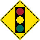 Image of a Signal Ahead Sign (W3-3)