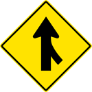 Image of a Merge Right Sign (W4-1R)