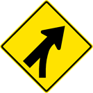 Image of a Entering Roadway Merge Sign (W4-5)
