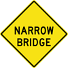 Image of a Narrow Bridge Sign (W5-2)