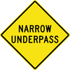 Image of a Narrow Underpass Sign (W5-2A)
