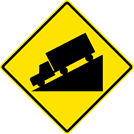 Image of a Hill Sign (W7-1)