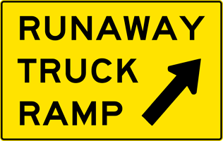 Image of a Runaway Truck Ramp Exit Sign (W7-4B)