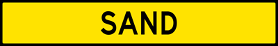 Sand-Plaque For Runaway Truck Ramp Sign (W7-4DP)
