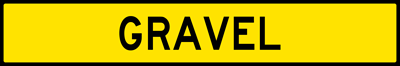 Gravel-Plaque For Runaway Truck Ramp Sign (W7-4EP)