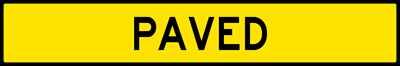 Paved-Plaque For Runaway Truck Ramp Sign (W7-4FP)