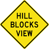 Image of a Hill Blocks View Sign (W7-6)