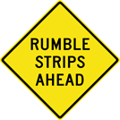 Image of a Rumble Strips Ahead Sign (W8-101)