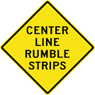 Center Line Rumble Strips Sign (W8-102)