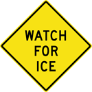 Image of a Watch For Ice Sign (W8-104)