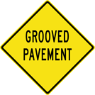 Image of a Grooved Pavement Sign (W8-15)