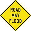 Image of a Road May Flood Sign (W8-18)