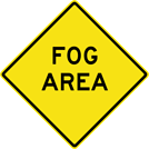 Image of a Fog Area Sign (W8-22)