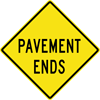 Image of a Pavement Ends Sign (W8-3)