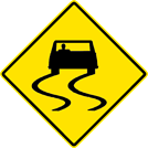 Slippery When Wet Sign (W8-5)