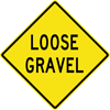 Image of a Loose Gravel Sign (W8-7)