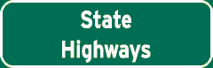 State Highways sign